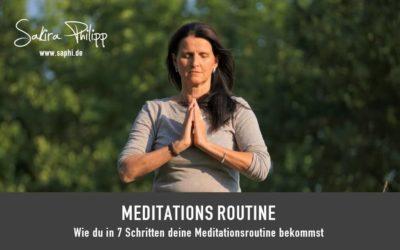 MEDITATIONSROUTINE